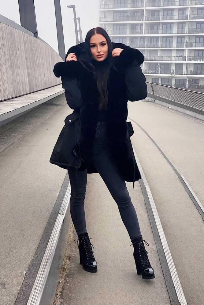 Fake-Fur-Mantel Alessia